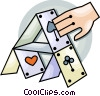 House of cards Vector Clipart graphic