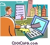 Vector Clipart illustration  of a Vocational Training