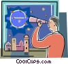 Vector Clipart illustration  of a Online Transactions