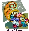 Online Concepts Vector Clipart image
