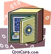 Computer security safe Vector Clipart graphic