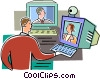 Vector Clip Art graphic  of a Chat