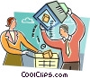 Vector Clip Art image  of a Online Transactions