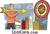 Targets and Objectives Vector Clip Art graphic