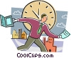 Concepts of time Vector Clipart picture