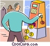 Vector Clip Art image  of a Slot Machines