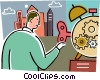 Concepts of time Vector Clipart illustration