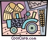 Tractors Vector Clipart illustration