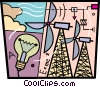 Vector Clip Art image  of a Wind Energy