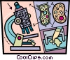 Microscopes Vector Clipart graphic