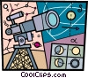 Telescopes Vector Clipart illustration
