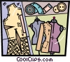 Vector Clipart illustration  of a Seamstress