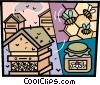 Vector Clip Art image  of a Bee Colonies