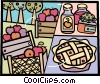 Pies Vector Clip Art graphic