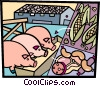 Vector Clipart image  of a Pork