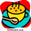 Vector Clip Art graphic  of a Teacups