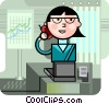 Vector Clipart illustration  of a Businesswomen