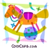 Rocking Horse Vector Clipart picture