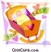 Pregnancy and Newborn Babies Vector Clip Art image