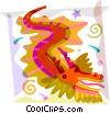 Dragons Vector Clipart illustration