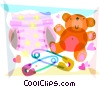 Vector Clipart picture  of a Diapers