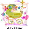 Strollers and Carriages Vector Clipart illustration