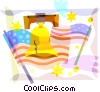 Vector Clipart illustration  of a Independence Day