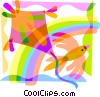 Kite Flying Vector Clipart graphic