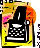 Typewriters Vector Clipart illustration
