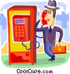 Vector Clip Art picture  of a Telephone Booths