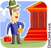 Vector Clipart illustration  of a Banks