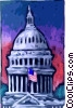 Capitol Building Vector Clip Art graphic