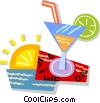 Vector Clipart picture  of a mixed drink