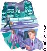Vector Clip Art image  of a Business Travel