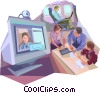 Collaboration Vector Clipart illustration