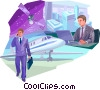 Vector Clipart picture  of a Business Travel