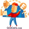 Juggling and Multitasking Vector Clip Art image