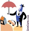 Vector Clip Art graphic  of a Group Insurance