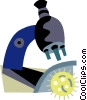 Microscopes Vector Clip Art graphic