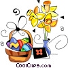 Vector Clipart graphic  of a Easter basket