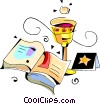 Vector Clipart illustration  of a the bible and chalice