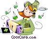 Vector Clipart illustration  of a st Patrick's day
