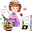 Vector Clipart graphic  of a Jewish child