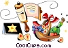 Vector Clipart picture  of a Judaism
