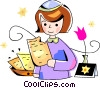 Jewish girl Vector Clip Art graphic