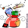 sack full of toys Vector Clip Art picture