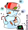 Snowmen Snowman Vector Clip Art graphic