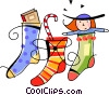 Christmas stockings Vector Clipart picture
