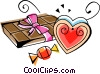 Vector Clipart graphic  of a Valentine Candy
