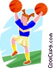 Vector Clip Art image  of a cheerleader